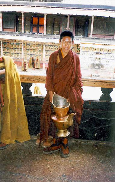 File:Novice monk with teapot.jpg
