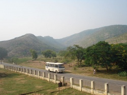 View of Rajgir hills from Jarasandha's Akhara.JPG